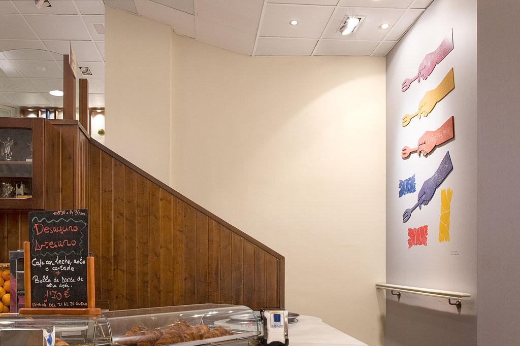 Escaleras cafetería Goya