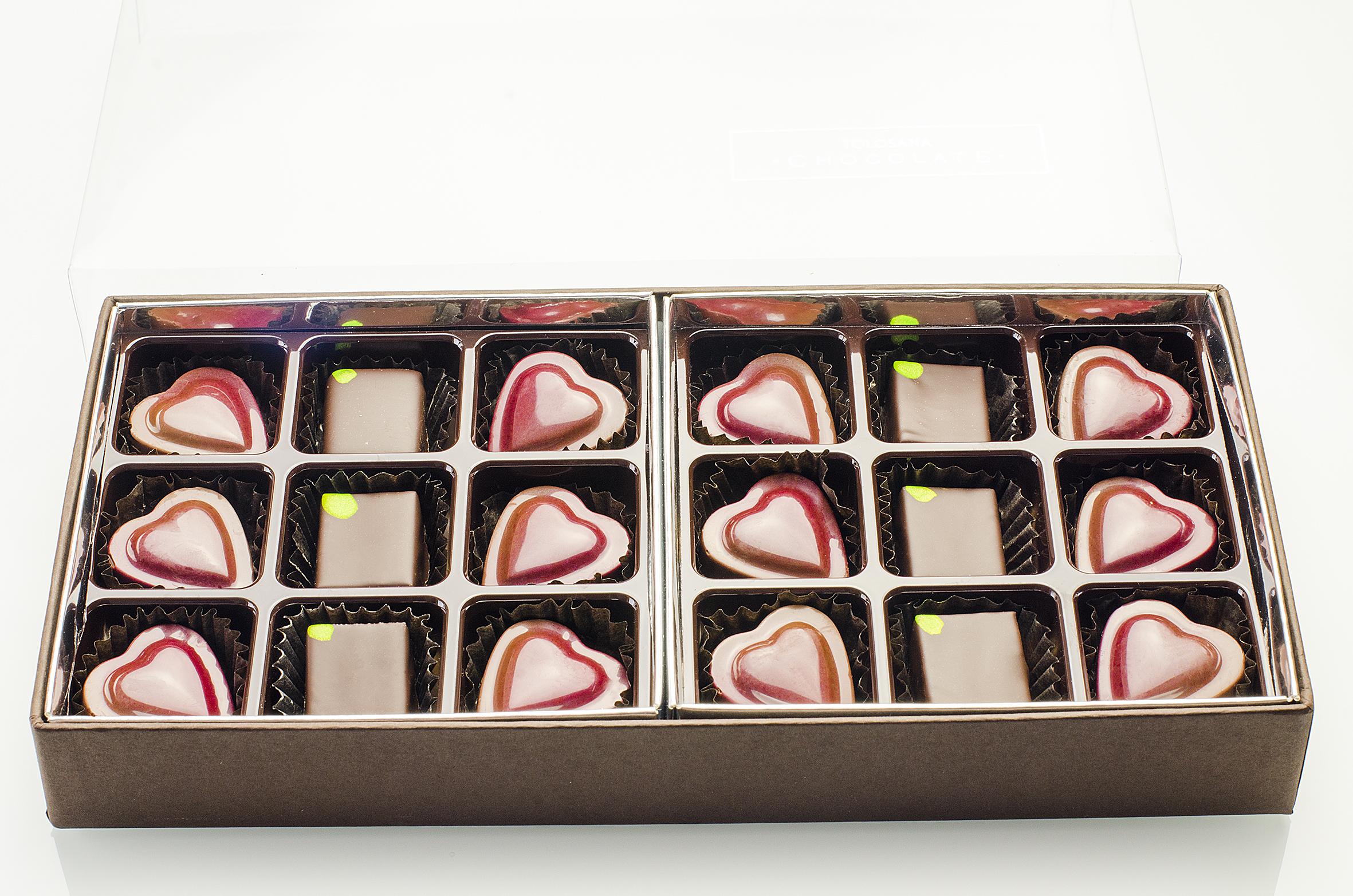 Caja Selección 18 bombones San Valentín