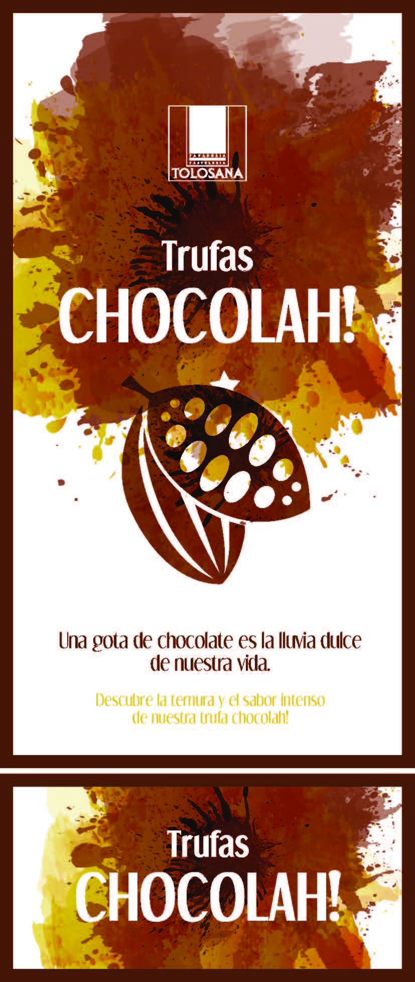 Cartelería Trufas Chocolah